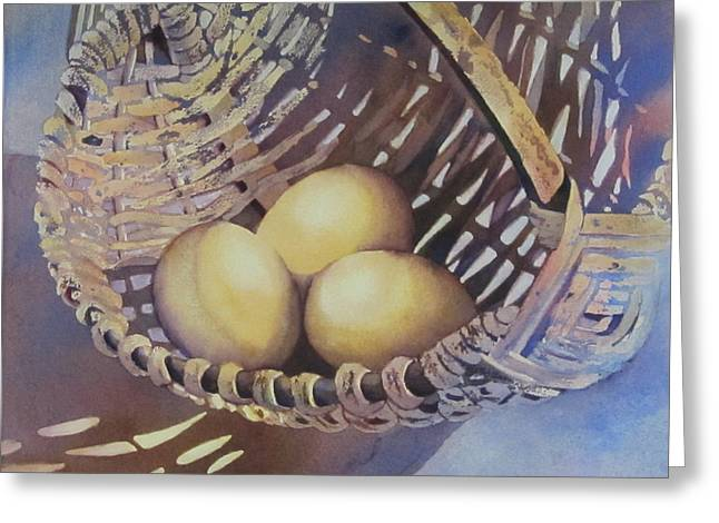 Eggs In A Basket II Greeting Card by Daydre Hamilton