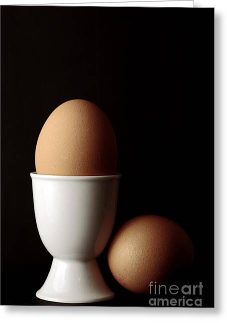 Eggs In Egg Cup Greeting Card by Craig B