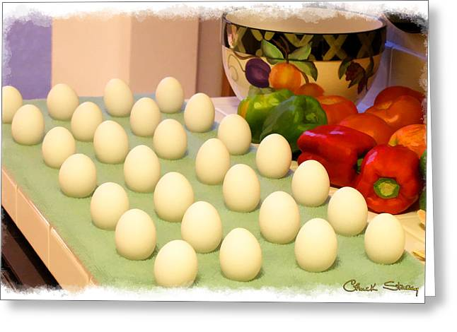 Eggs On Parade Greeting Card by Chuck Staley
