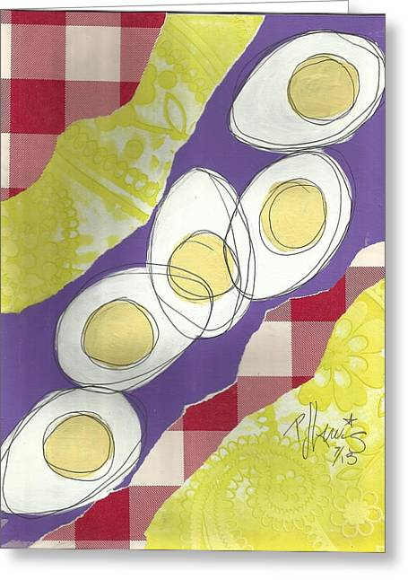 Eggs Greeting Card by P J Lewis