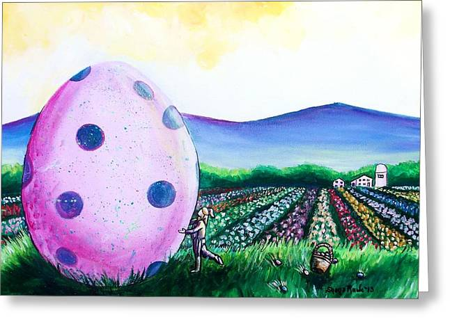 Eggstatic Greeting Card by Shana Rowe Jackson