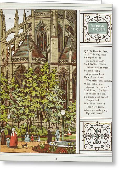 Eglise De St. Quen (saint-ouen) Greeting Card by British Library