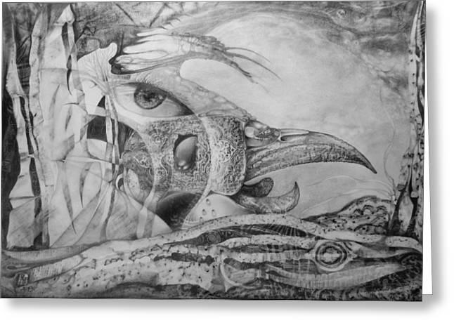 Ego-bird-fish Nesting Ground Greeting Card by Otto Rapp