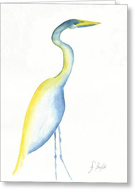 Egret's Glance Greeting Card