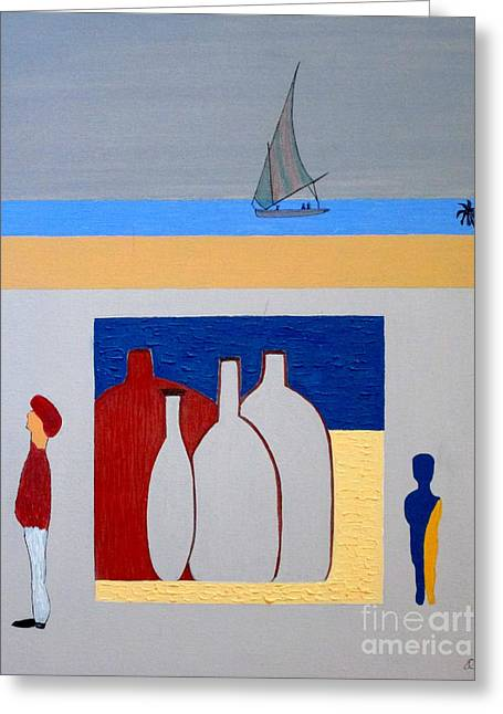 Greeting Card featuring the painting Egypt Afternoon by Bill OConnor