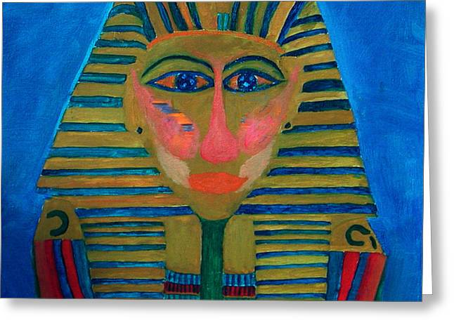 Greeting Card featuring the painting Egypt Ancient  by Colette V Hera  Guggenheim