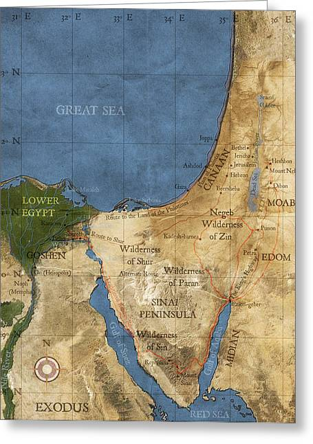 Egypt And The Holy Land Greeting Card by Carol and Mike Werner
