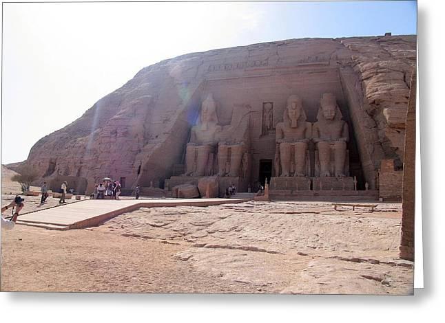 Egypt Masculin Temple Greeting Card by Gabriela Casineanu