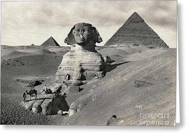 Egypt: Pyramids And Sphinx Greeting Card