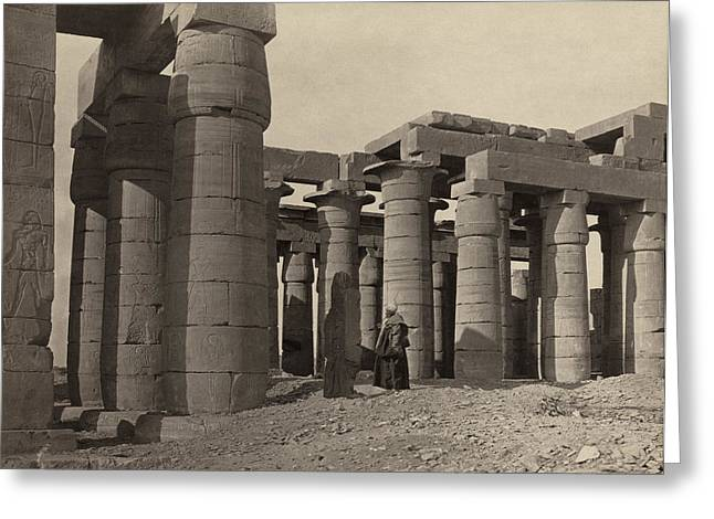 Egypt Ramesseum, 1860 Greeting Card by Granger