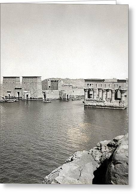 Egypt Temple Of Philae Greeting Card by Granger