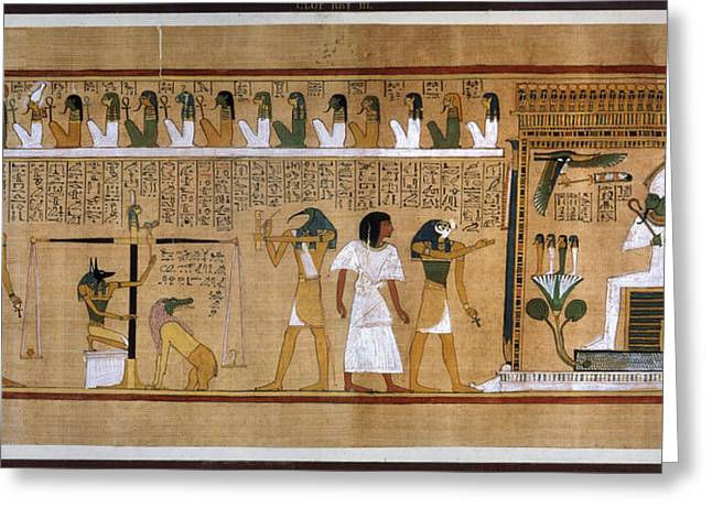 Egypt Weighing Of Souls Greeting Card by Granger
