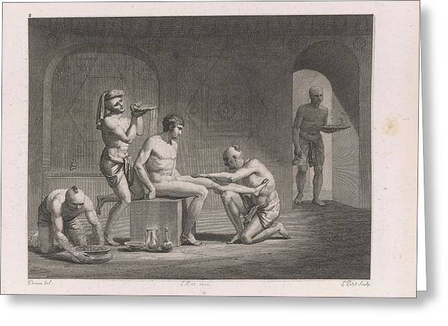 Egyptian Bath Greeting Card by British Library
