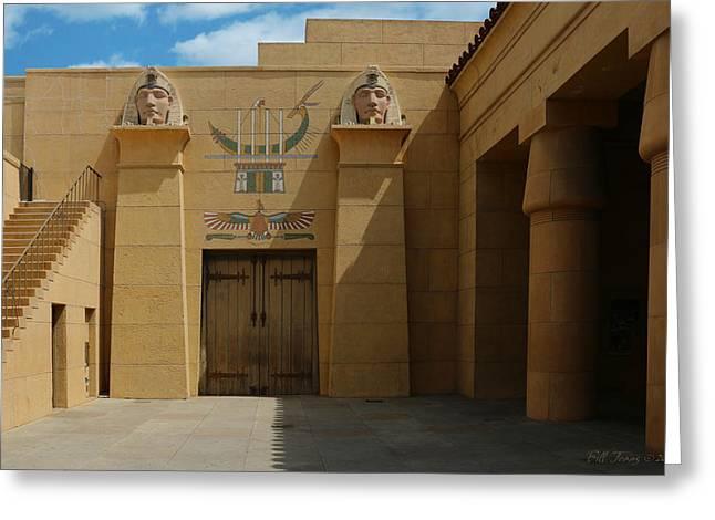 Egyptian Courtyard Greeting Card by Bill Jonas