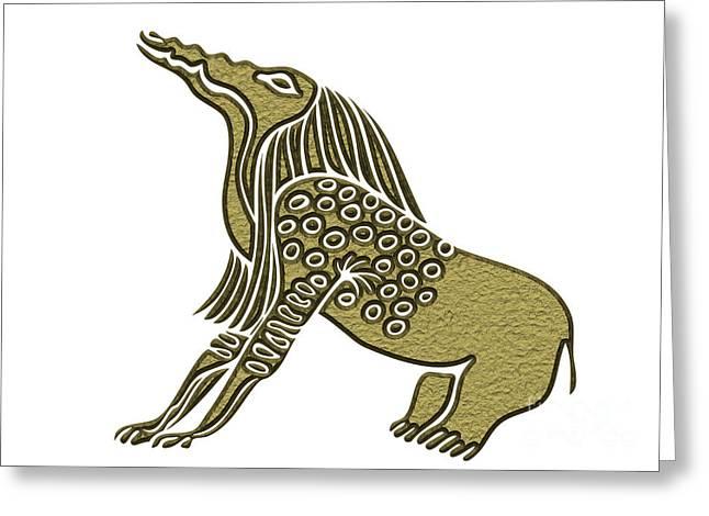 Egyptian Demon - Bone Eater Greeting Card by Michal Boubin