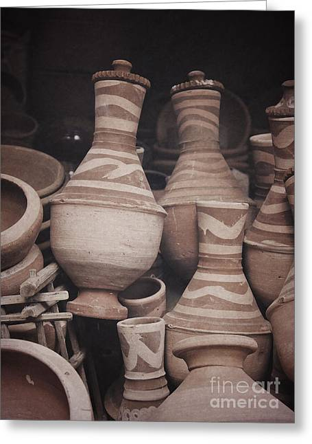 Greeting Card featuring the photograph Egyptian Hand Made Traditional Bowl Of Cold Water by Mohamed Elkhamisy