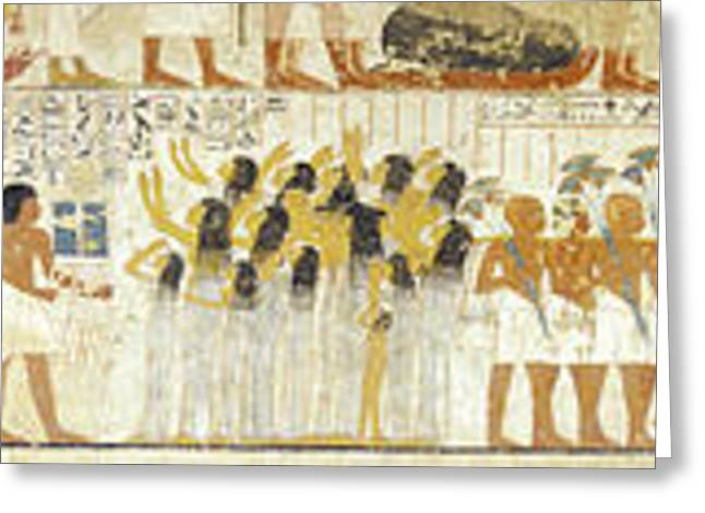 Egyptian Hieroglyphs On The Wall, Tomb Greeting Card