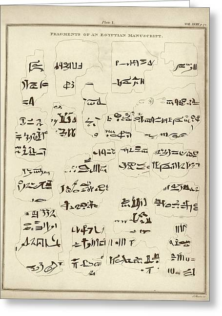 Egyptian Manuscript Fragments Greeting Card