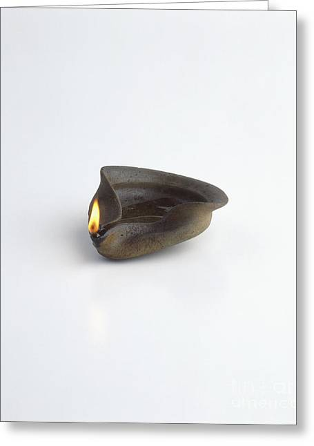 Egyptian Oil Lamp, Replica Greeting Card by Dave King / Dorling Kindersley / Science Museum, London