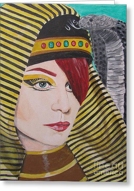 Egyptian Princess Greeting Card by Jeepee Aero