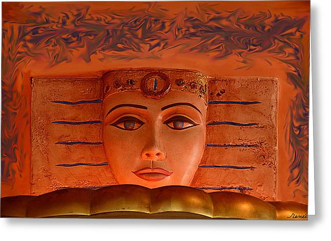 Egyptian Queen Nefertiti  Greeting Card by Renee Anderson