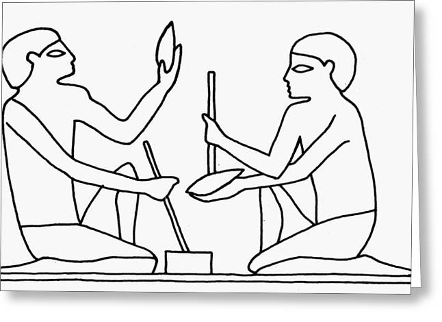 Egyptian Tool Making Greeting Card by Granger