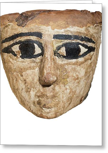 Egyptian Wooden Mask Greeting Card by Photostock-israel
