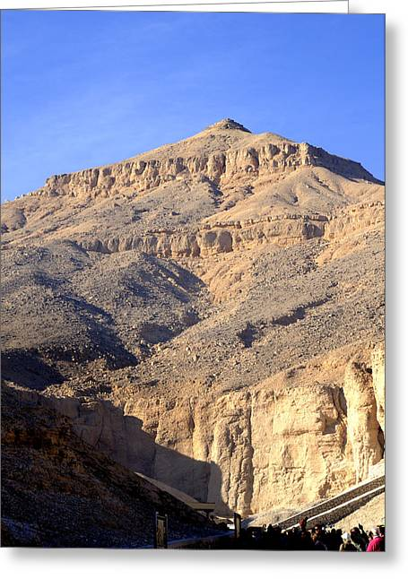 Egypt's Valley Of The Kings Greeting Card by Brenda Kean