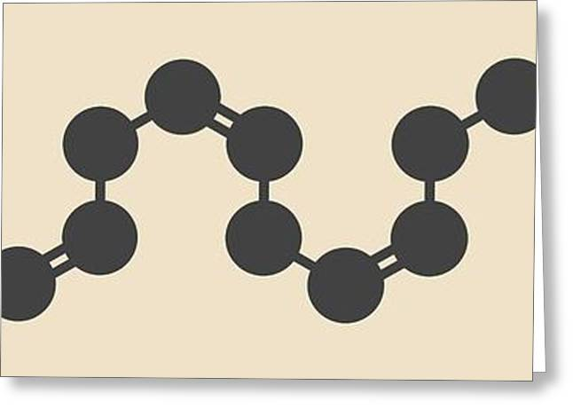 Eicasapentaenoic Acid Molecule Greeting Card