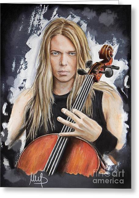 Eicca Toppinen _ Apocalyptica Greeting Card by Melanie D