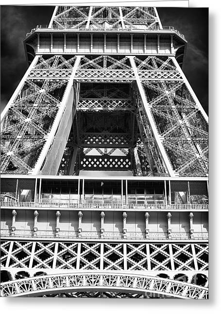Eiffel Details Greeting Card by John Rizzuto