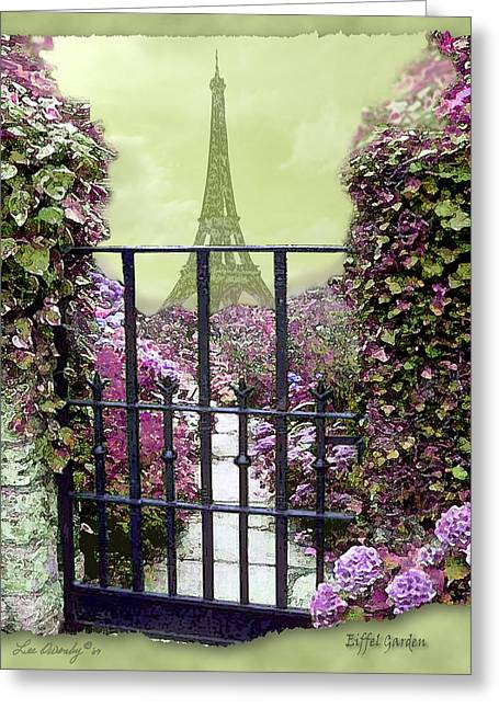 Eiffel Garden Greeting Card