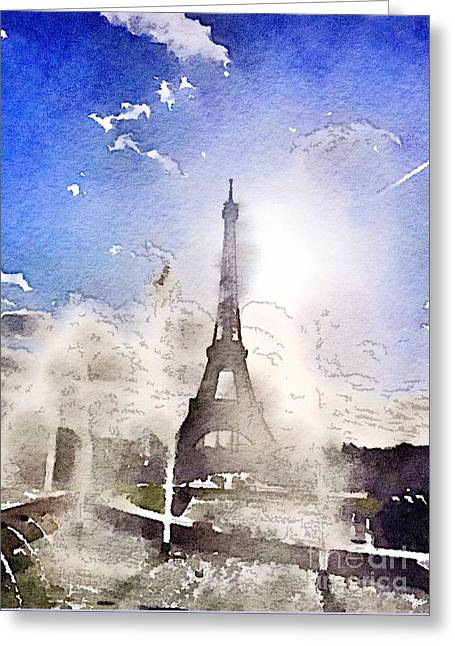 Eiffel During Summer Greeting Card