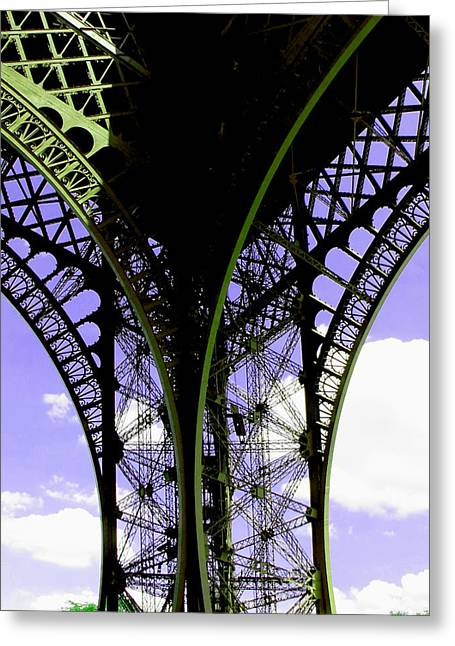 Eiffel Lace Greeting Card