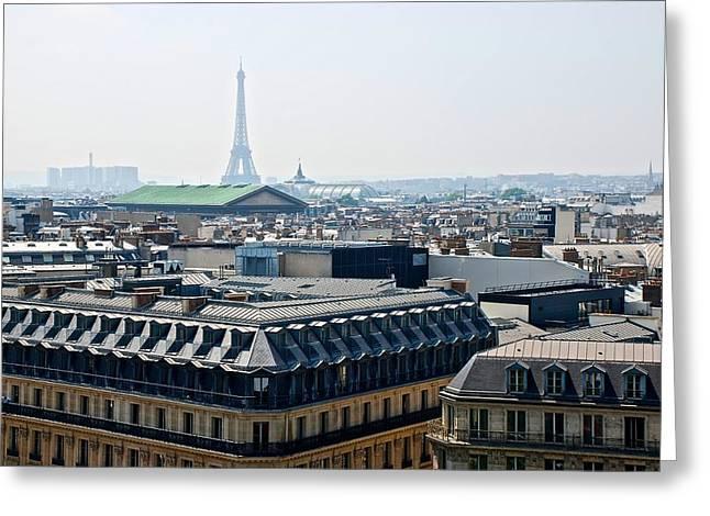 Eiffel Over Paris Greeting Card by Eric Tressler