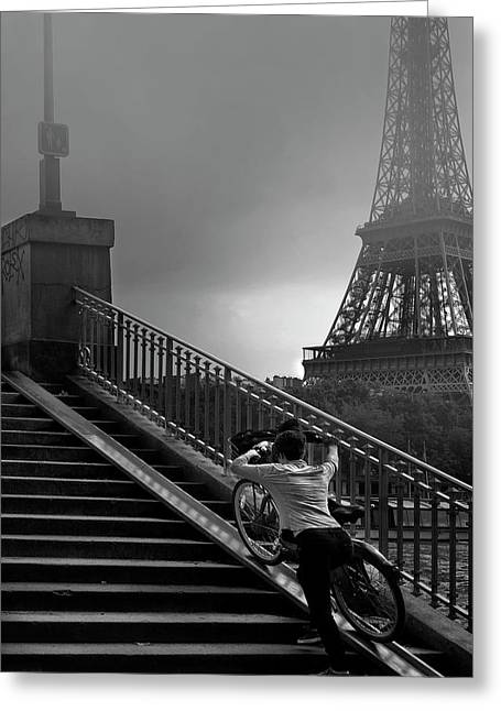 Eiffel Greeting Card by Sol Marrades