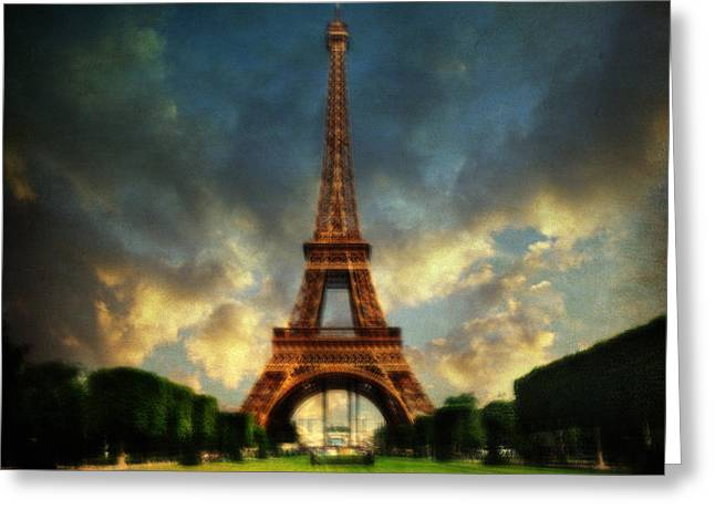 Eiffel Greeting Card by Taylan Apukovska