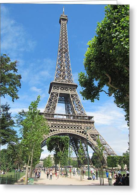 Greeting Card featuring the photograph Eiffel Tower - 1 by Pema Hou