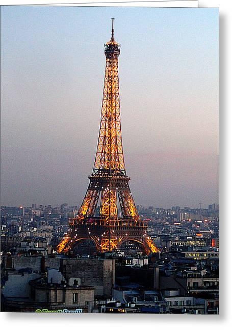 Eiffel Tower 19 Greeting Card by Everett Spruill
