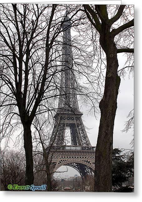 Eiffel Tower 4 Greeting Card by Everett Spruill
