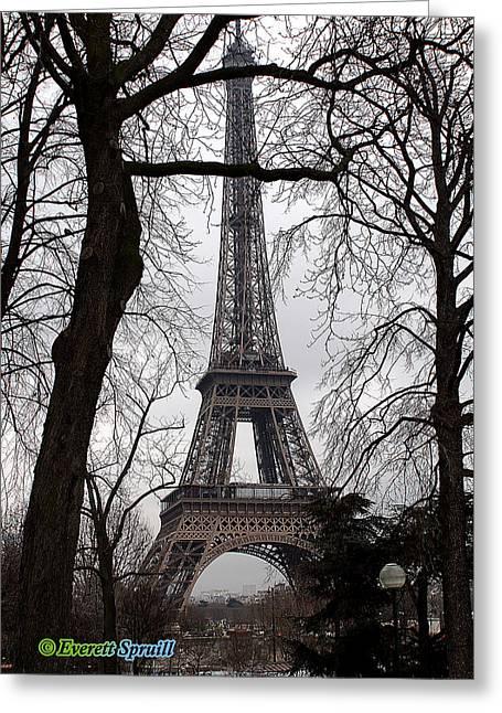 Eiffel Tower 5 Greeting Card by Everett Spruill