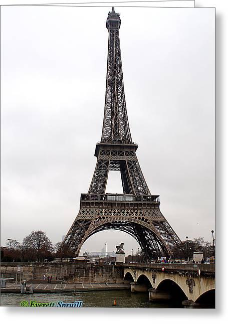 Eiffel Tower 7 Greeting Card by Everett Spruill
