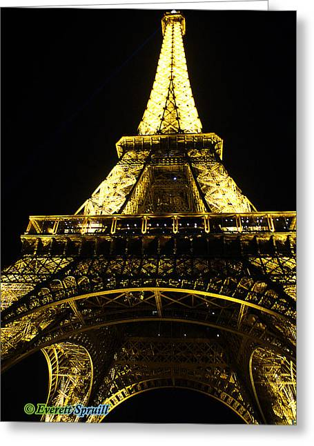 Eiffel Tower 8 Greeting Card by Everett Spruill