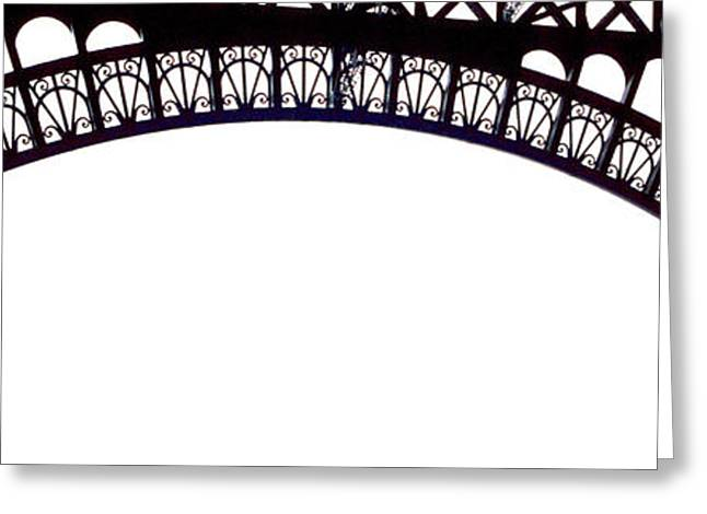 Eiffel Tower Abstract Greeting Card by Mary Bedy