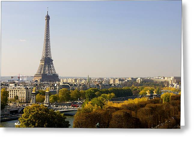 Paris France The Eiffel Tower Greeting Card