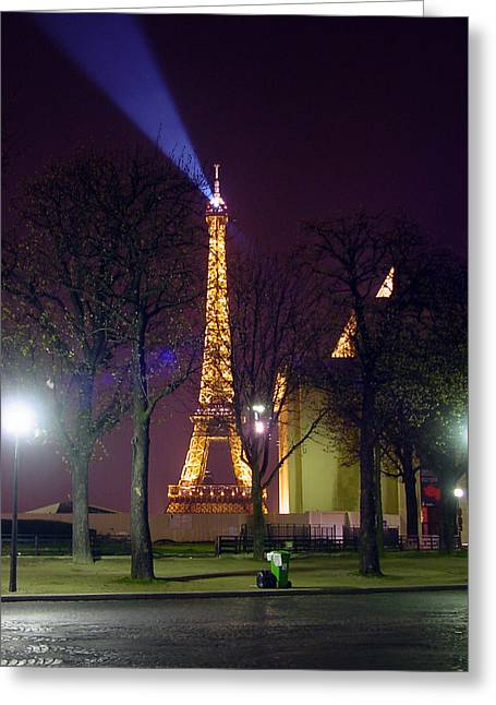 Eiffel Tower As A Lighthouse Greeting Card