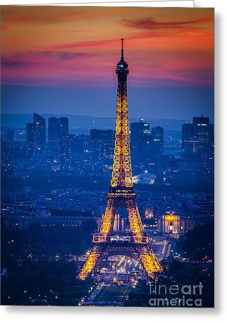 Eiffel Tower At Twilight Greeting Card