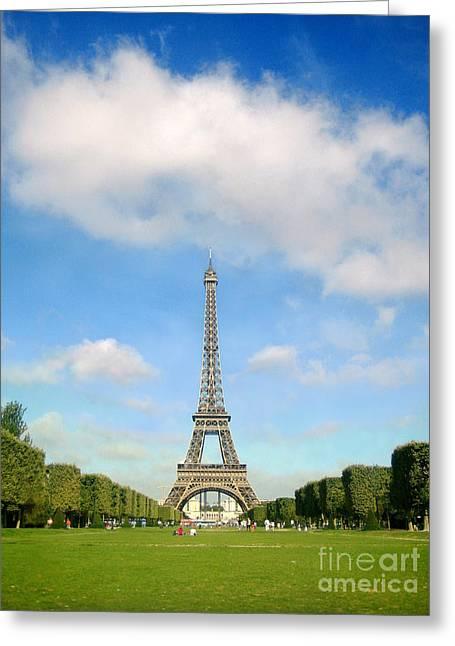 Eiffel Tower Blue Sky's Paris  Greeting Card