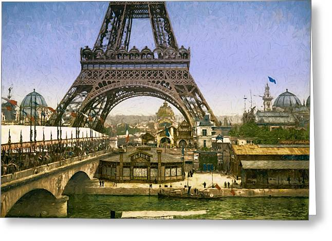 Eiffel Tower World's Fair Greeting Card by John K Woodruff
