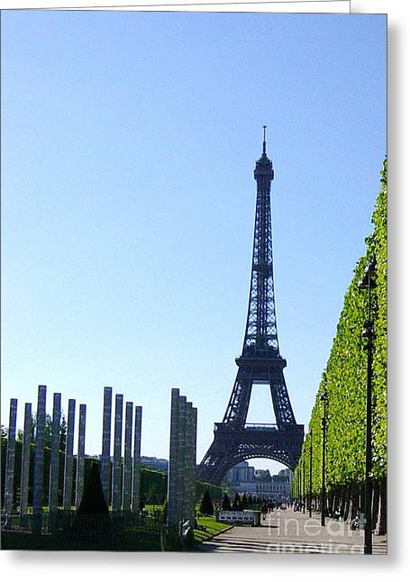 Greeting Card featuring the photograph Eiffel Tower by Deborah Smolinske